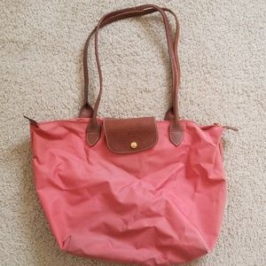 Le Pliage Large Shopping Tote Coral Pink